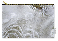 Carry-all Pouch featuring the photograph Ice Abstract by Christina Rollo