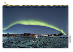 Ice And Northern Lights Carry-all Pouch