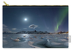 Ice And Northern Lights II Carry-all Pouch