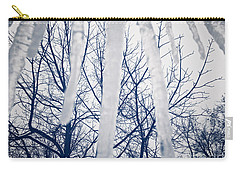 Carry-all Pouch featuring the photograph Ice Bars by Robert Knight