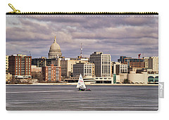 Ice Boat And Capitol - Madison  - Wisconsin Carry-all Pouch