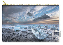 Ice Chunks Sunset 2 Carry-all Pouch
