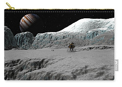Ice Cliffs Of Europa Carry-all Pouch