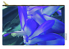 Carry-all Pouch featuring the photograph Ice Cold Christmas Cactus Flower by Aimee L Maher Photography and Art Visit ALMGallerydotcom