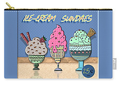 Ice-cream Sundaes Carry-all Pouch