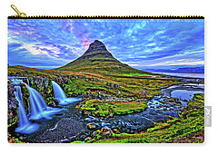 Carry-all Pouch featuring the photograph Ice Falls by Scott Mahon