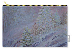 Ice Fog In The Forest Carry-all Pouch