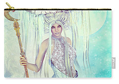 Carry-all Pouch featuring the digital art Ice Moon Princess by Jutta Maria Pusl
