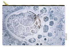 Ice Pattern One Carry-all Pouch by Davorin Mance