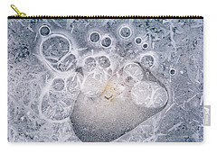 Ice Pattern Two Carry-all Pouch by Davorin Mance