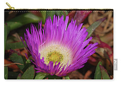 Carry-all Pouch featuring the photograph Ice Plant Flower by Adria Trail