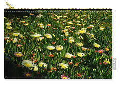 Carry-all Pouch featuring the photograph Ice Plants In Bloom by Glenn McCarthy Art and Photography
