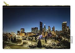 ice ribbon and Chicago Skyline Carry-all Pouch