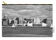 Ice Sailing Bw - Madison - Wisconsin Carry-all Pouch