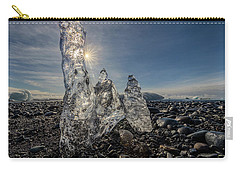 Carry-all Pouch featuring the photograph Ice Spires by Rikk Flohr
