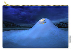 Carry-all Pouch featuring the photograph Ice Volcano by John Poon