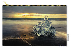 Carry-all Pouch featuring the photograph Iceberg At Dawn by Rikk Flohr