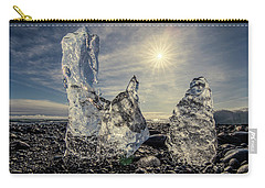 Carry-all Pouch featuring the photograph Iceberg Fingers Catching The Sun by Rikk Flohr