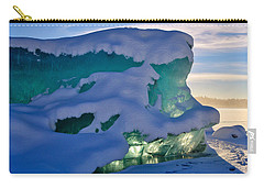 Iceberg's Glow - Mendenhall Glacier Carry-all Pouch by Cathy Mahnke