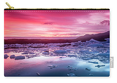 Icebergs In Jokulsarlon Glacial Lagoon Carry-all Pouch by Joe Belanger