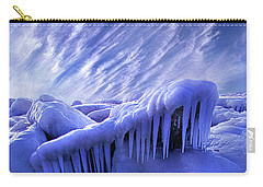 Carry-all Pouch featuring the photograph Iced Blue by Phil Koch