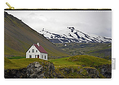 Iceland House And Glacier Carry-all Pouch
