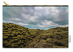 Iceland Moss And Clouds Carry-all Pouch by Venetia Featherstone-Witty