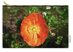 Carry-all Pouch featuring the photograph Iceland Poppy by Sally Weigand