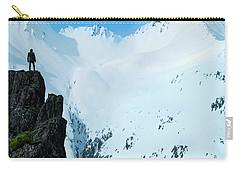 Iceland Snow Covered Mountains Carry-all Pouch