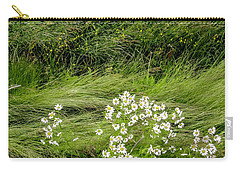 Carry-all Pouch featuring the photograph Icelandic Daisies by KG Thienemann