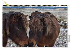 Icelandic Horses Couple Carry-all Pouch