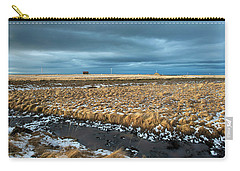 Carry-all Pouch featuring the photograph Icelandic Landscape by Dubi Roman