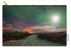 Carry-all Pouch featuring the photograph Iceland's Landscape At Night by Dubi Roman