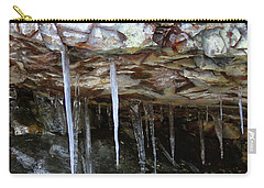 Carry-all Pouch featuring the photograph Icicle Art by Doris Potter