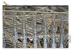 Carry-all Pouch featuring the photograph Icicles On A Stick by Glenn Gordon