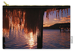 Carry-all Pouch featuring the photograph Icicle Stars Sunset by Sean Sarsfield