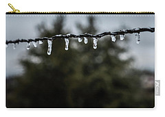 Icicles On Wire Carry-all Pouch by Karen Slagle