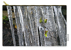Carry-all Pouch featuring the photograph Icicles by Sharon Talson