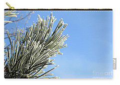 Carry-all Pouch featuring the photograph Icing On The Needles by Michal Boubin