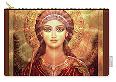 Icon Angel In Red With Light Carry-all Pouch