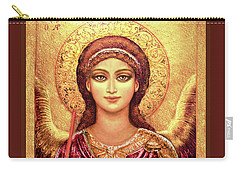 Icon Archangel Gabriel In Magenta Carry-all Pouch