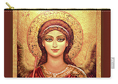 Icon Archangel In Red  Carry-all Pouch