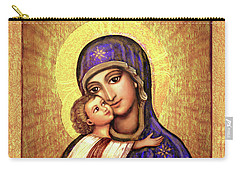 Icon Madonna And Infant Jesus Carry-all Pouch