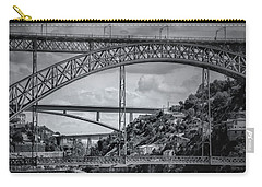Iconic Bridges Of Porto In Black And White  Carry-all Pouch