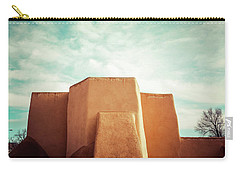 Carry-all Pouch featuring the photograph Iconic Church In Taos by Marilyn Hunt