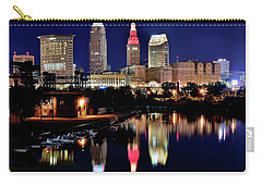Iconic Night View Of Cleveland Carry-all Pouch