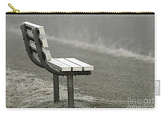 Icy Bench In The Fog Carry-all Pouch