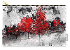 Icy Red Landscape Carry-all Pouch