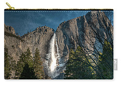 Icy Upper Yosemite Falls Carry-all Pouch
