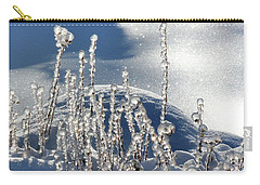 Carry-all Pouch featuring the photograph Icy World by Doris Potter